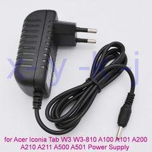 Plugue ue carregador para tablet, 1 peça de plugue para iphone ícones tab w3 W3-810 aspirador switch 10 a100 a101 a200 a210 a211 a500 a501 potência