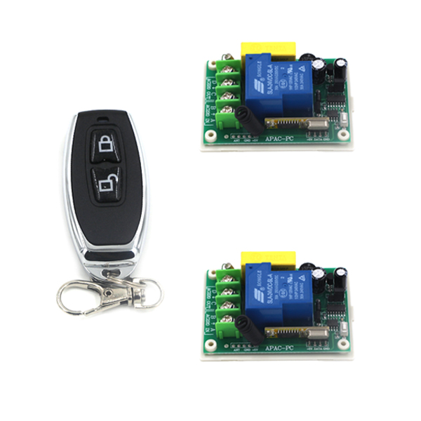 220V high power switch 30A load relay receiver and waterproof 2 keys transmitter remote controller 3 working modes SKU: 5532 the black keys the black keys el camino 2 lp
