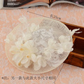 2016 Wedding Veil Hats Hair Accessory In Stock Wedding Fascinator Bridal Hat With Appliqued Flower Decoration High Quality