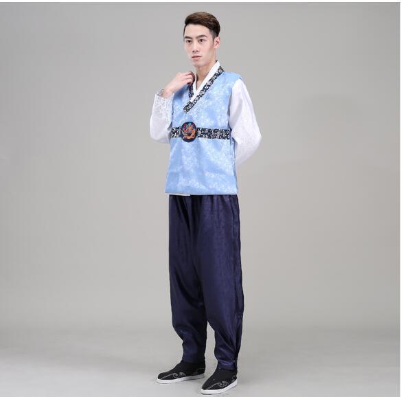Hanbok Giyim Set Damat Kore Ulusal Kostüm Hanbok Kore Geleneksel Adam Suits