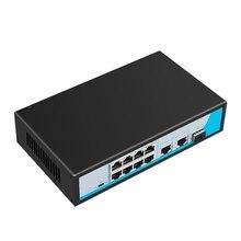 8 Ports Network Ethernet Switch Hub 10/100Mbps Full Half / Duplex Switch 2 Uplink Gigabit Switch With Sfp Port Eu Plug
