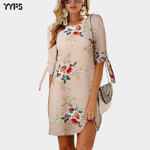Yyfs 2019 летние шифоновые платья женское мини платье с цветочным