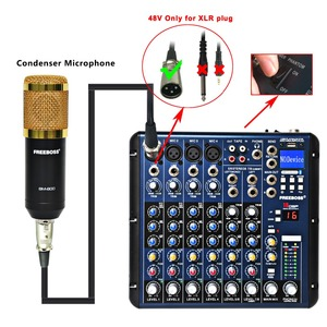 Image 4 - Freeboss SMR8 Bluetooth USB Record 8 Channels (4 Mono + 2 Stereo) 16 DSP Church School Karaoke Party USB DJ Mixer