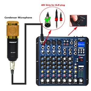 Image 4 - Freeboss SMR8 Bluetooth USB kayıt 8 kanal (4 Mono + 2 Stereo) 16 DSP kilise okul Karaoke parti USB DJ mikseri