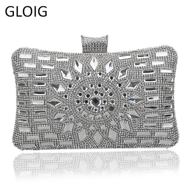 06a6eab30e NUOVO argento diamante borse da sera in oro di alta qualità pochette borsa  blu festa nuziale