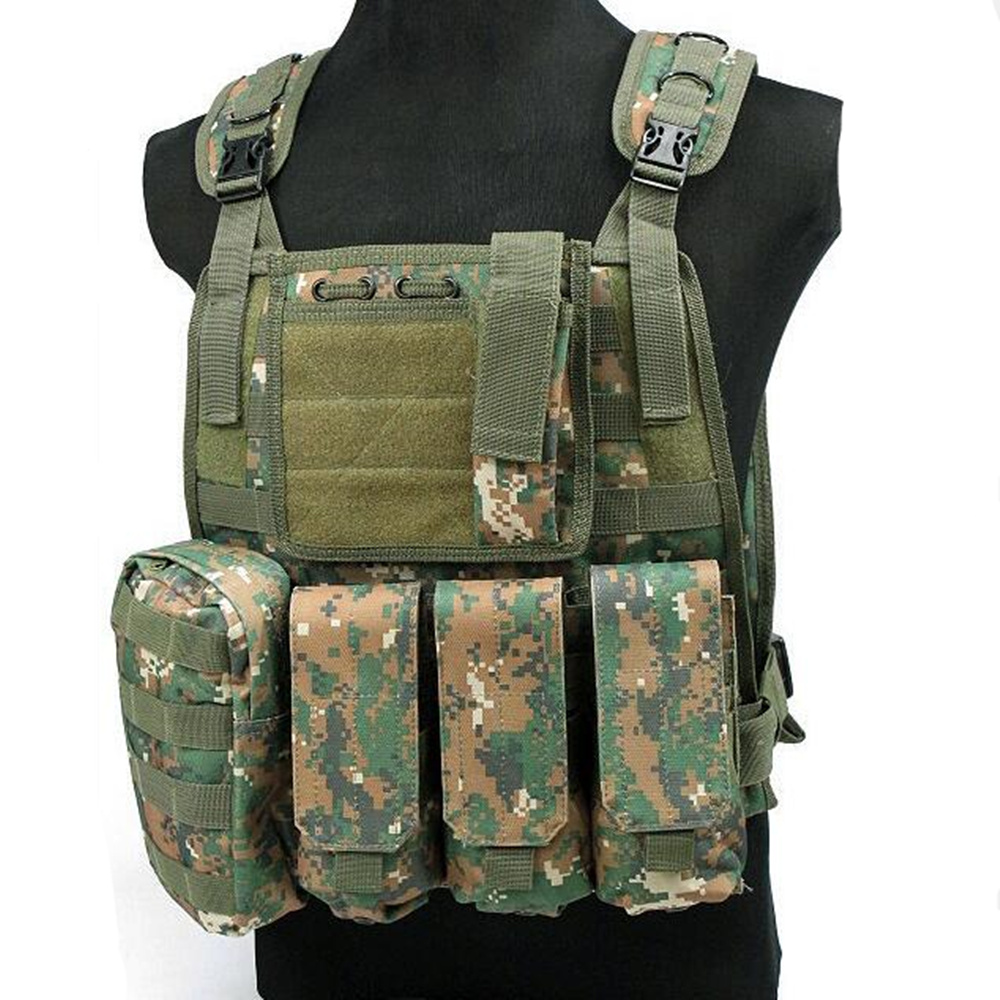 Men 600D C2 Tactical Vest Outdoor Military Tactical Army Polyester Airsoft War Game Camouflage Hunting Vest WG Equipment