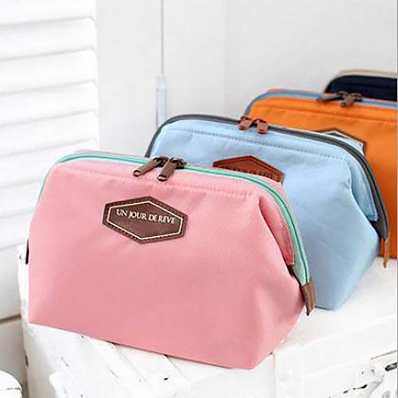 NIBESSER Portable Cute Cosmetic Bag Tolietry Kit Zipper Travel Organizer Portable Beauty Pouch Functional Bag Makeup Toilet Bag
