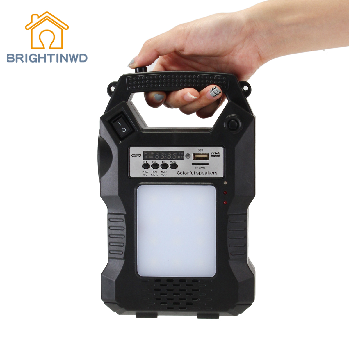 Music Lantern Flashlight For Emergency Light High Quality Solar Powered Outdoor Camping Hand Hiking Lighting Remote Control Lamp