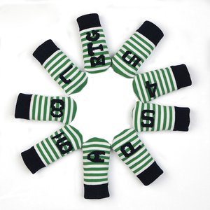 Image 4 - PLAYEAGLE 10 Pcs Iron Head Covers Knitted Golf Head Protector Colorful Stripe New