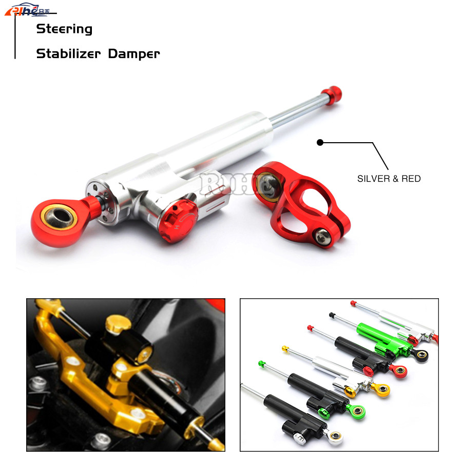 Universal Motorcycle CNC Damper Steering Stabilizer Linear Reversed Safety Control for Yamaha yzf r3 r25 r1 r125 r6 r25 BMW KTM universal new cnc aluminum motorcycle steering damper stabilizer adjustable for yamaha xsr 700 xsr700 xsr 700 xv950cr yzf r3 yzf