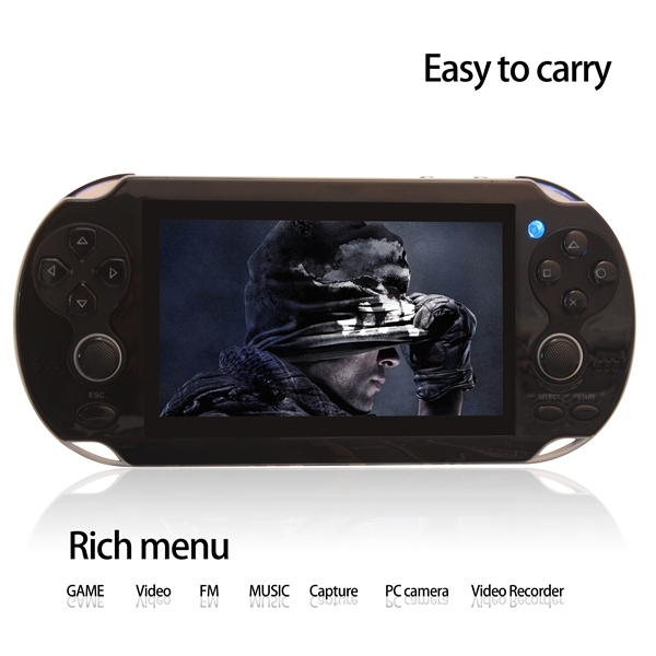 Dual Rocker 4 3 inch 8GB portable game player handheld game console support TV Out camera