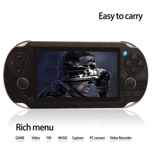 Dual Rocker 4.3 inch 8GB portable game player handheld game console support TV-Out camera video music with hundreds games(China)