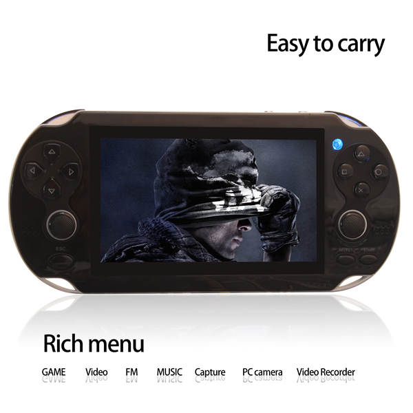 Dual Rocker 4.3 inch 8GB portable game player handheld game console support TV-Out camera video music with hundreds games