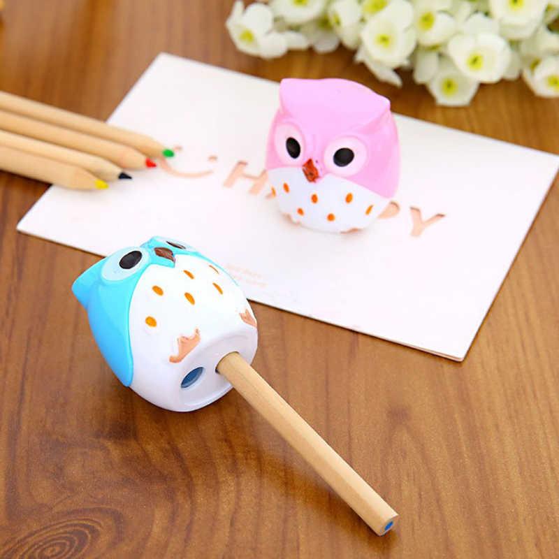 لطيف البومة براية أقلام كوريا القرطاسية حيوان مصغرة براية أقلام التعلم اللوازم المكتبية