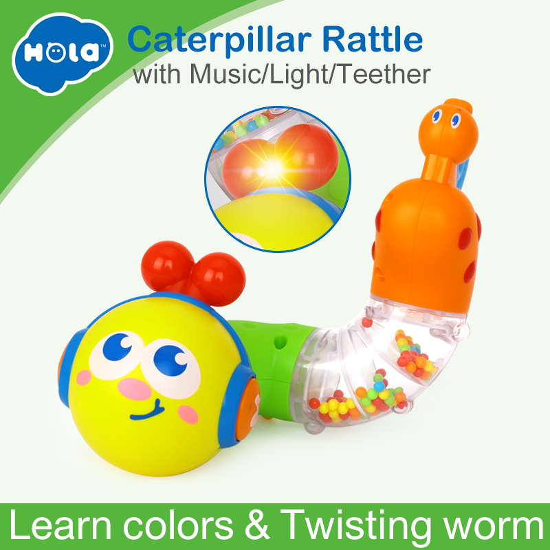 HUILE TOYS 917 Baby Toys Musical Twisting Worm Rattle Toy Brinquedos Chocalho Kids Early Educational Toys for Children Xmas Gift