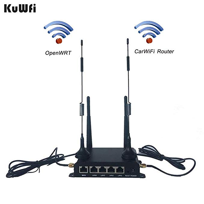 KuWFi OpenWRT 300Mbps Industrial Router CAT4 4G CPE Router Extender Strong Wifi Signal Suport 32Wifi users