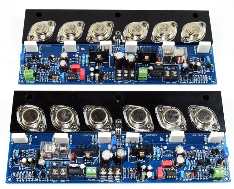 HIFI E405 gold sealed tube pure power amplifier board Original Ansenmei MJ15024G/MJ15025G and Toshiba 2SA1930/2SC5171 (1 pair) 2sa1930 a1930 to 220f