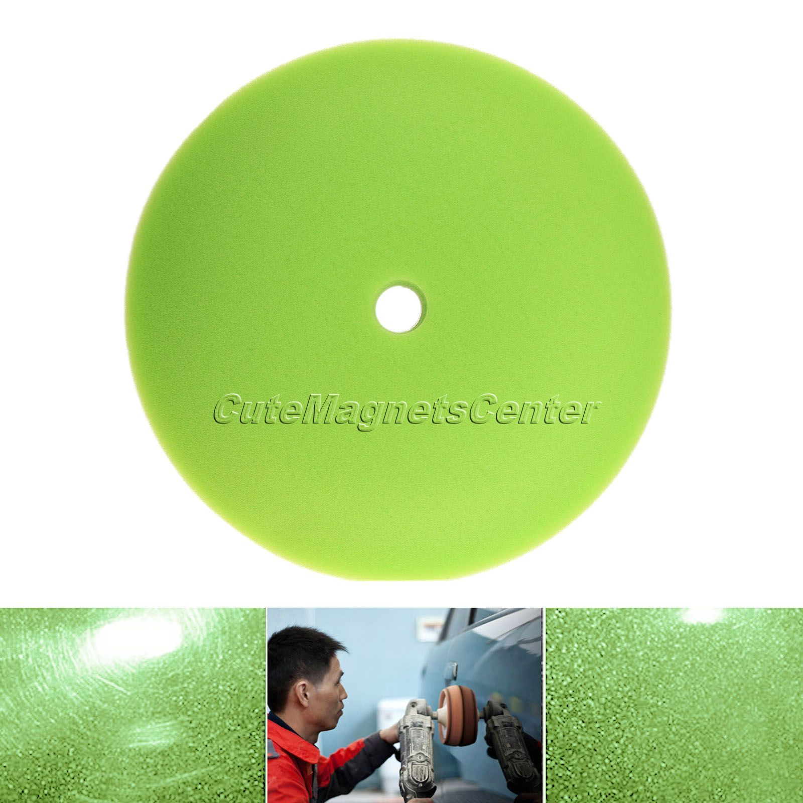 1Pc Car Wash 6 inch Soft Foam Felt Cleaning Sponge Car-styling Waxing Polishing Buffing Pads Car Detailing Auto Tool Accessories