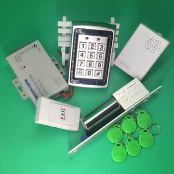 Metal Zinc Alloy ID 125Khz Standalone Keypad Access Control+ Electric Bolt Lock+Door Bell+RFID keyfobs+12V3A Power Supply
