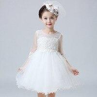 طفل بنات اللباس مهرجان الزفاف فستان الزفاف الأطفال العروسة طفل أنيق اللباس 2 4 6 8 10 سنة الفتيات ملابس بيضاء
