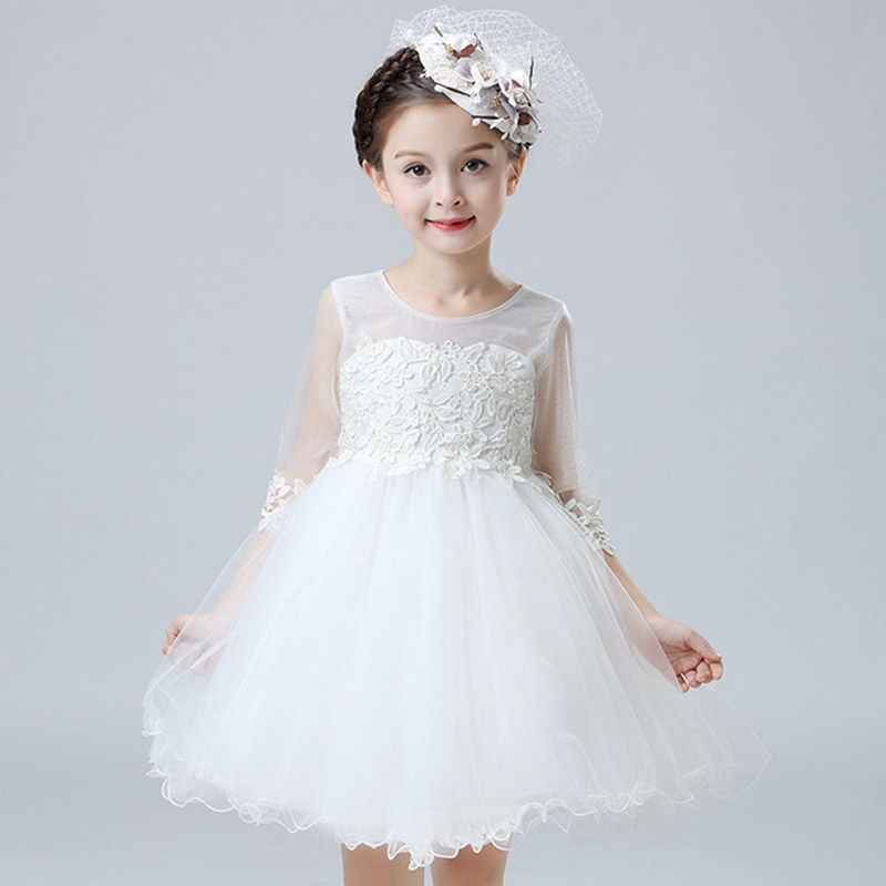 Baby girls dress pageant wedding bridal dress children for 10 year old dresses for weddings