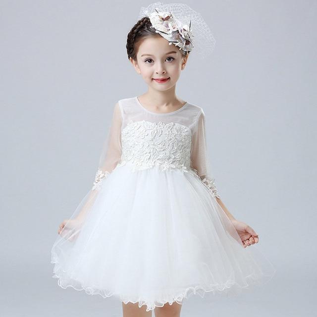 Baby Mädchen Kleid Pageant Hochzeit Brautkleid Kinder Brautjungfer ...