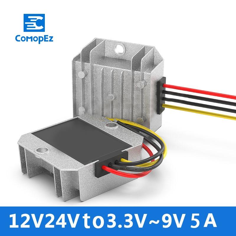 Waterproof DC DC Converter 12V24V To 33V 37V 42V 5V 6V 75V9 V5A DC Power Converter Step Down Voltage Reducer CE RoHS CertificatWaterproof DC DC Converter 12V24V To 33V 37V 42V 5V 6V 75V9 V5A DC Power Converter Step Down Voltage Reducer CE RoHS Certificat