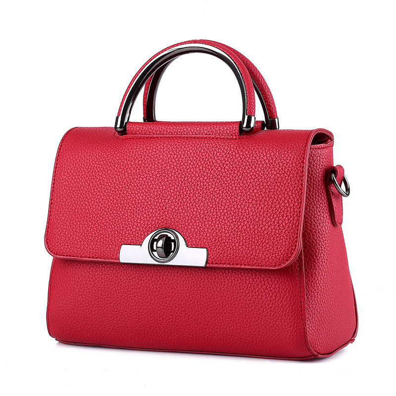 Fashion Elegant PU Women Handbag Wine Red Office Lady Shoulder Bag Crossbody Messenger Twist Turn Lock Cusual vintage harry potter hogwarts custom picture logo luxury wax seal sealing stamp brass peacock metal handle gift set