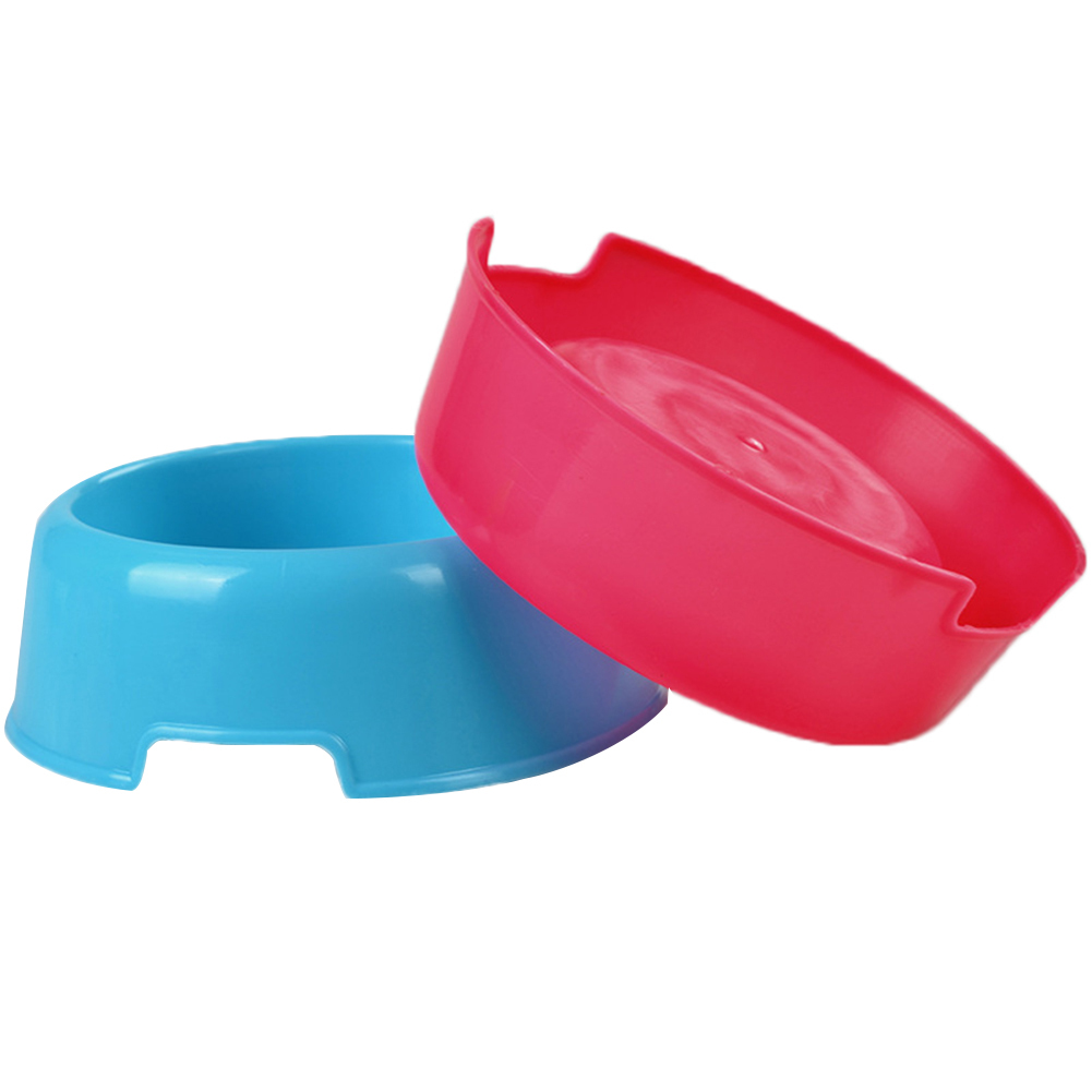 Three Colors High-Quality Pet Small Dogs and Cats Feeding Drinking Supplies Double Bowls for Food and Water for Small Other Pets image