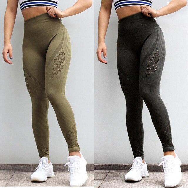 Для женщин кальсоны йоги 2019 спортивные бег спортивная эластичный Фитнес Леггинсы для бесшовный корсет тренажерный зал сжатия колготки