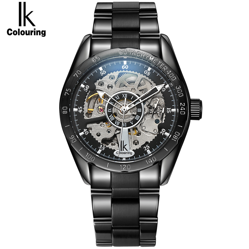 IK Pirate Mens High Quality Tourbillon Automatic mechanical Watches Men Top Brand Luxury Business full steel watch Man Clcok new business watches men top quality automatic men watch factory shop free shipping wrg8053m4t2