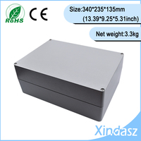 High quality 340*235*135mm 13.39X9.25X5.31Inch aluminum project cases aluminum electrical boxes metal electrical box