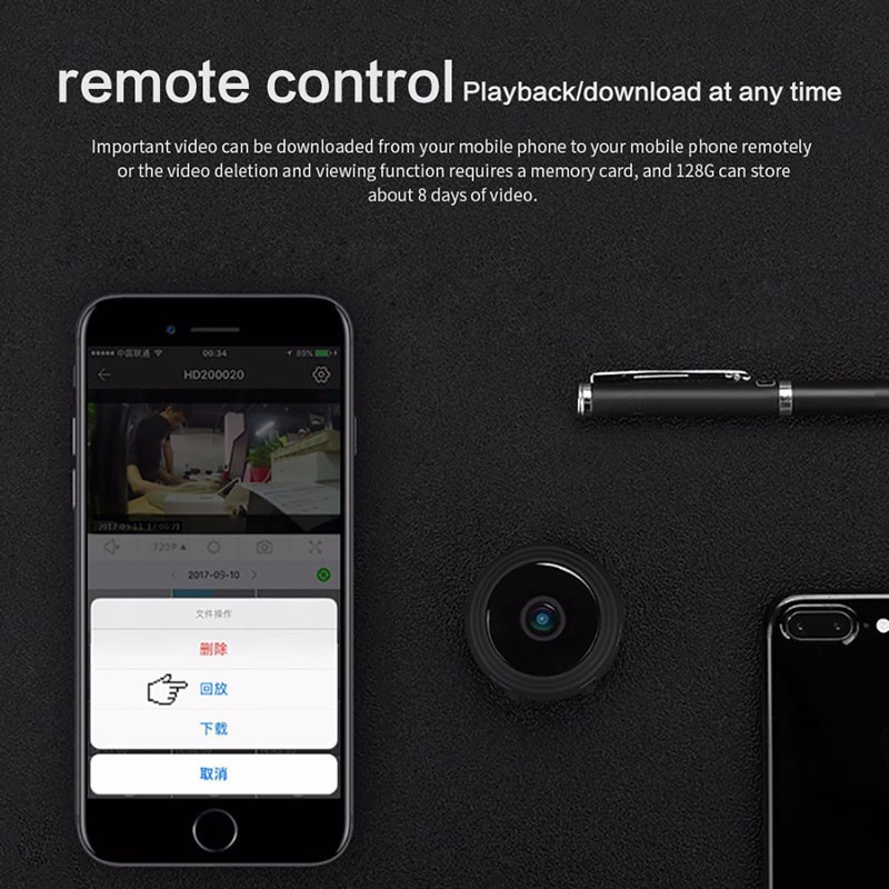 Image 5 - A9 Mini WiFi camera 1080P HD Remote playback video small micro cam Motion Detection Night Vision Home Monitor Security camcorder-in Surveillance Cameras from Security & Protection