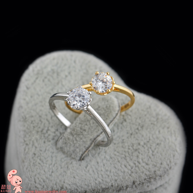 line Shop Classic Single Stone Ring for Engagement Wedding Gift