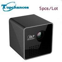 5x высокое качество Портативный P1 WI FI Беспроводной карманный проектор LPD HD видео Пико встроенный Батарея аудио сплиттер Быстрая доставка