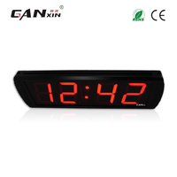 [Ganxin]Low Price 4'' Programmable Digital Remote Control China Led wall Clock Wholesaler