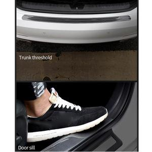 Image 5 - Car Stickers Carbon Fiber Rubber Styling Door Sill Protector Goods For Nissan qashqai J11 J10 juke tiida note AUTO Accessories