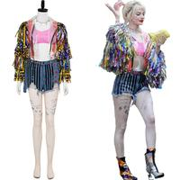 Birds of Prey Cosplay And the Fantabulous Emancipation of One Harley Quinn Costume Cheerleader Suit Halloween Carnival Adult