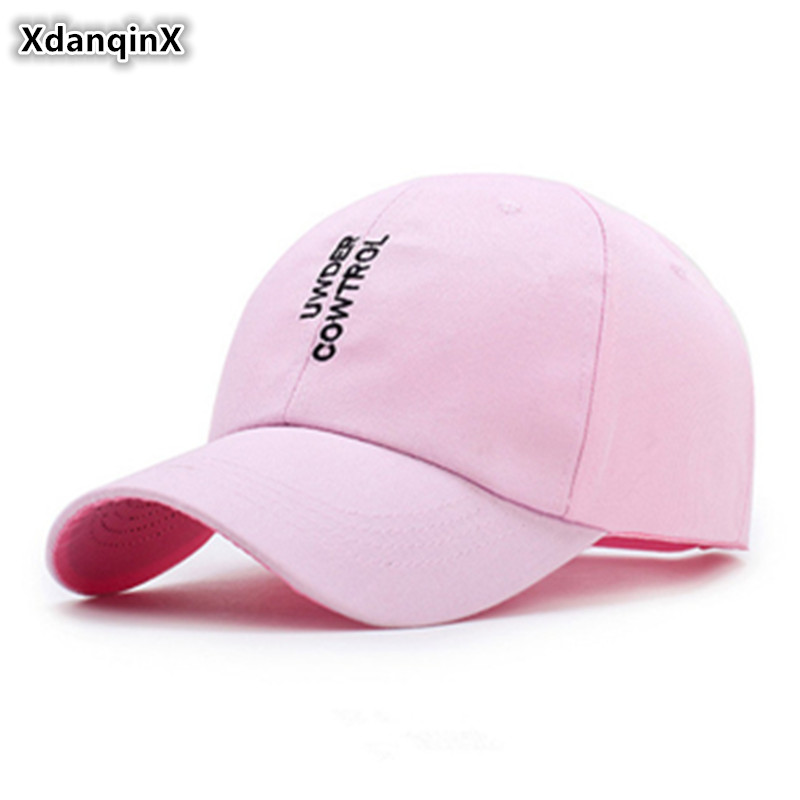 XdanqinX Snapback Cap Women's Ponytail Cotton Baseball Cap Fashion Letter Embroidery Sports Caps For Men Adjustable Hip Hop Hats(China)