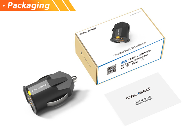 Najmniejszy USB mini ładowarka samochodowa automatyczna