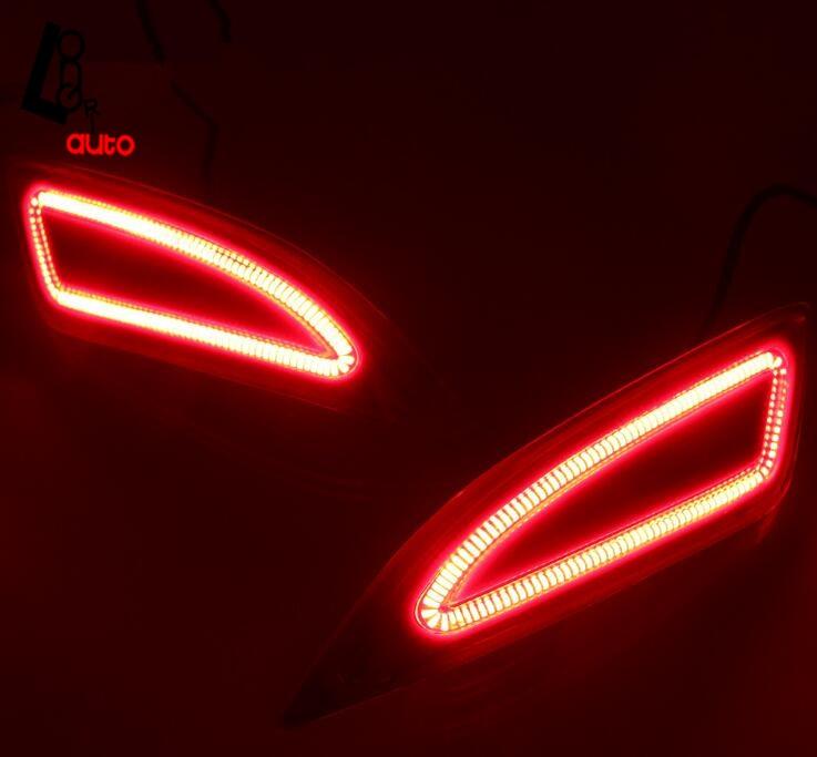 Светодиодные задние Включите свет Отражатели свет для Toyota Camry 2015-2016 задний фонарь