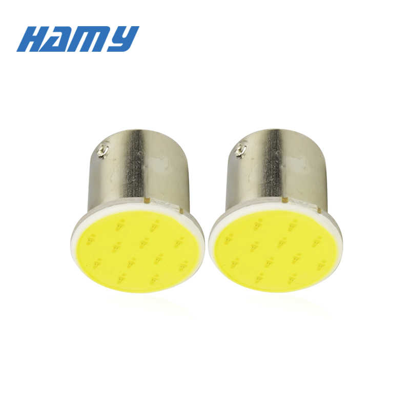 2x P21W 1156 BA15S 1157 BAY15D Car LED Signal Light COB Super Bright Bulb Auto Tail Turn Reverse Parking Brake Lamp 12V 12SMD
