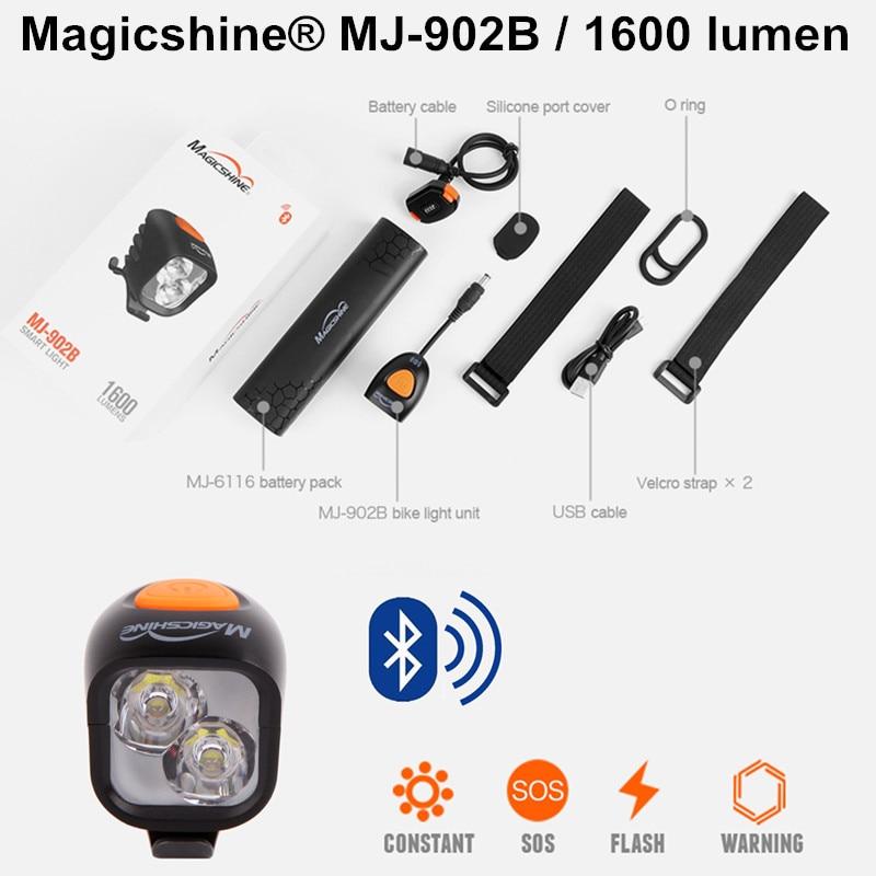 Magicshine 902B MJ 902B разведки Bluetooth программируемый велосипедные фары Горный велосипед Спорт Освещение Фары для автомобиля зарядка через USB
