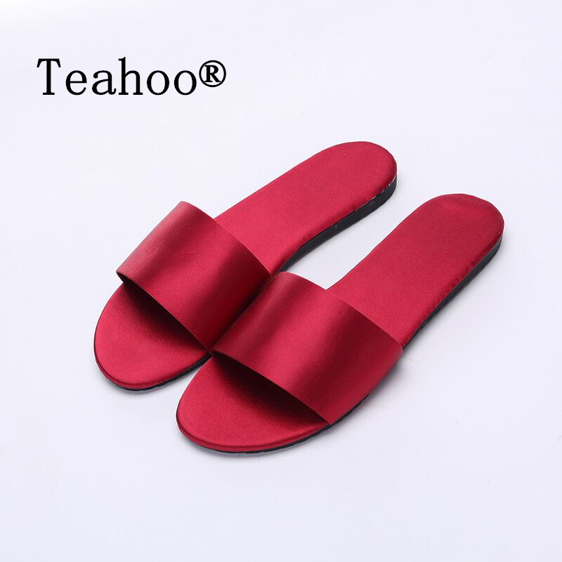 Teahoo Summer Slides Sandals Soft Soles Home Bathroom Flat