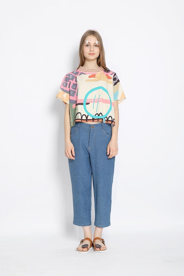Shirt design supplies - Aliexpress Com Buy Harajuku 2016 Summer New Women T Shirt School Supplies Digital Printing Original Design Short Sleeved T Shirt Girls Tee Tops From