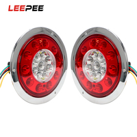 LEEPEE Car Styling 19LED Car Brake Light LED Round Tail Light Red Yellow Truck Trailer Turn