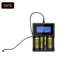Quatro slot usb lcd carregador de bateria for3.6v, 3.7v18650 26650 10440 lítio carregador de bateria & aa/aaa/sc/c/d ni-mh, ni-cd carregador