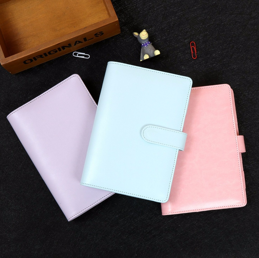 A5 A6 Spiral Loose Leaf Refillable Travel Journal Notebook Filofax Planner Agenda Notepad Binder Harphia pu leather spiral loose leaf refillable travel journal zipper dokibook notebook filofax planner agenda notepad binder a6