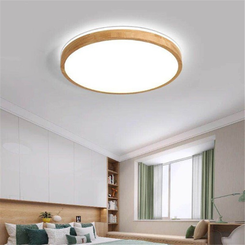 Japanese style ultra thin led ceiling lights solid wood bedroom lamp modern minimalist surface mounted ceiling lampJapanese style ultra thin led ceiling lights solid wood bedroom lamp modern minimalist surface mounted ceiling lamp