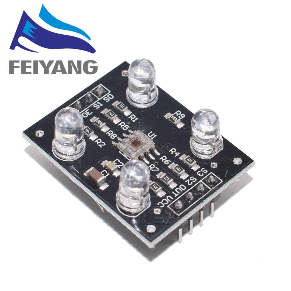 1pcs cor reconhecimento sensor TCS230 TCS3200 Color sensor Cor reconhecimento módulo de reconhecimento de cores do sensor